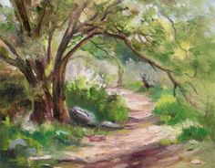Oak Tree Paintings - Oak Oil Paintings, Pastels and Watercolor Paintings by California impressionist Karen Winters