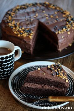 Norwegian Food, Norwegian Recipes, Let Them Eat Cake, Cravings, Cake Recipes, Goodies, Food And Drink, Snacks, Sweet