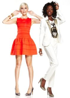 Sole Society - Add some pattern to your colorful party dress or work a sharp white suit with gold details and playful animal tee.