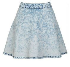 Perfect skirt to pair with all the bright summer colors! #skirt #jeanskirt #summer #summerstyle #style #highwaisted #skirt #swag #girls #pretty