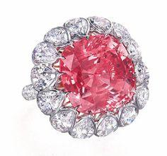 2720 Padparadscha Sapphire Diamond Ring