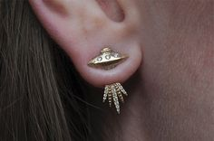 Tender Abduction UFO Earring. WANT!!! $800 for a single. Yellow only, which is probably good bc I'd be snapping that baby up!