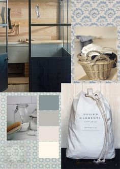 Hard working  laundry  rooms and useful utility items can be both practical and beautiful. Simple, natural elements such as wood and linen c...