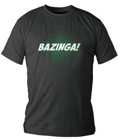 Camiseta chico Negra BAZINGA! - Varias tallas. #thebigbangtheoryhttp://www.akibaclub.com/search/camiseta%20bazinga%20chico/
