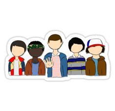 Cosas más extrañas niños – Will, Lucas, Once, Mike, y Dustin • Also buy this artwork on stickers, apparel y home decor.