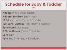 Babywise & Beyond: Schedule for Baby & Toddler Naptimes