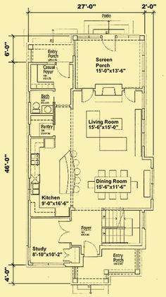 Architectural House Plans : Floor Plan Details : Modern Prairie Cottage