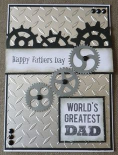 Trendy birthday card ideas for father embossing folder Masculine Birthday Cards, Birthday Cards For Men, Handmade Birthday Cards, Man Birthday, Masculine Cards, Greeting Cards Handmade, Birthday Ideas, Cards For Men Handmade, Fathers Day Cards Handmade