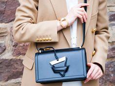 BAG LOVER #Loewe #Bag #black #leatherbag #SaintLaurent #Coat #womenswear #look #ootd #botd #ss17