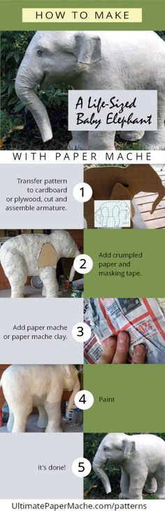 How to make a life-sized paper mache Indian elephant.
