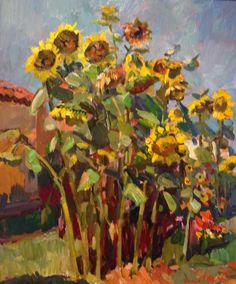Dr. Thorpe's Sunflowers by James Kerr. City Art Gallery James Kerr jazz paintings abstract jazz oil paintings dance contemporary jazz beach paintings