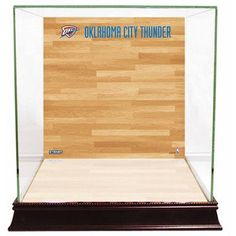 Steiner Sports Basketball Court Background Case NBA Team: Oklahoma City Thunder