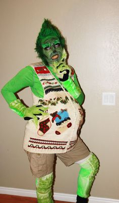 The Grinch who stole Christmas.  @Katie Kurz - here's a good costume for Christmastime!  You could totally do this... :)