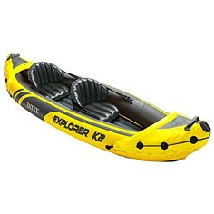 Intex Explorer Kayak Inflatable Kayak Set with Aluminum Oars and High Output Air Pump * Find out more about the great product at the image link. (This is an affiliate link) Canoe Boat, Canoe And Kayak, River Kayak, Best Fishing Kayak, Fishing Boats, Used Kayaks, Kayaks For Sale, Recreational Kayak, Kayak Fishing
