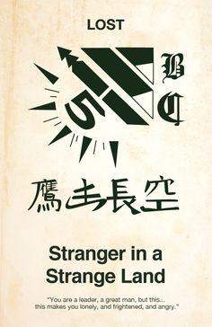 Lost minimalist poster - Stranger in a Strange Land Jacks Tattoo Lost, Lost Tattoo, Jack Tattoo, Poster Series, Tv Series, Lost Serie, Tattoo Tv Shows, Lost Poster, Lost Episodes