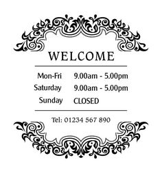 Influential image within office hours sign template