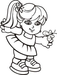 Desenhos de meninos e meninas para Colorir - Toda Atual
