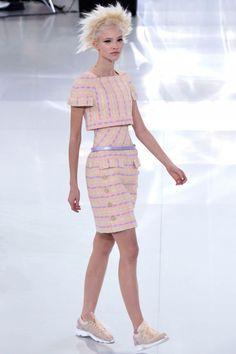 Chanel - box cut top, structured. Paris Haute Couture Fashion Week 2014