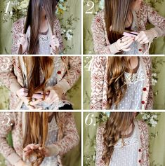 DIY Beachy Curls with a flat iron