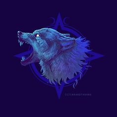 Creative Drawing Showcase and discover creative work on the world's leading online platform for creative industries. Wolf Spirit, Spirit Animal, Fantasy Wolf, Fantasy Art, Wolf Hybrid, Traditional Ink, Wolf Wallpaper, Desenho Tattoo, Wolf Moon
