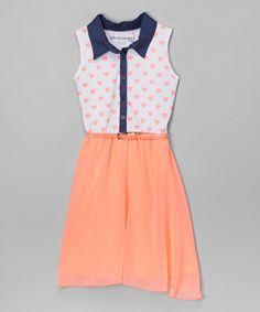 Loving this Neon Sorbet Heart Belted Dress on #zulily! #zulilyfinds