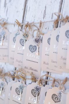 Barrington Hill Farm Wedding Key escort cards on barn door Sarah & Ben Photography