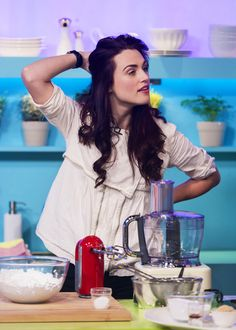 Katie McGrath. I love the old-fashioned look on her. Very ...