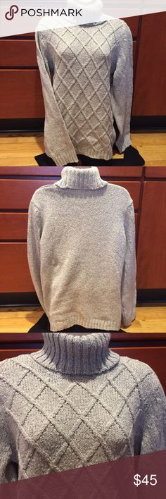 """Anne Klein Sweater 69% cotton 31% acrylic brand new with tags.  Length is 25""""  under the arms across laying flat is 20"""" Anne Klein Sweaters Cowl & Turtlenecks"""