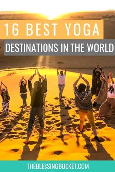 This article shares 16 best yoga destinations in the world. No matter which continent you visit, you can find amazing places to practice yoga. #wellnesstravel #yogaretreats #yogatravel