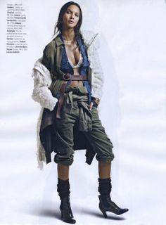 Lais Ribeiro for Vogue Brasil, March 2015.