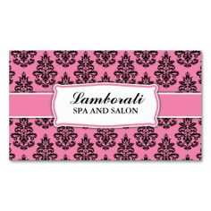 Floral Pattern Elegant Hairdresser Stylist Salon Business Card Templates. Make your own business card with this great design. All you need is to add your info to this template. Click the image to try it out!