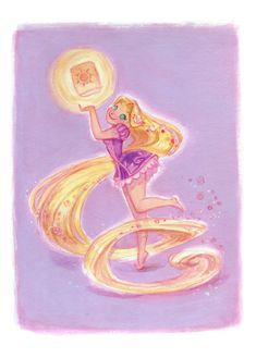 Princess Pinup Rapunzel: Art Print by CaseyRobinArt on Etsy