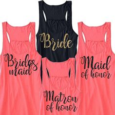 Bride Bridesmaid Maid of Honor and Matron of by BeforeTheIDos #beforetheidos #bacheloretteparty