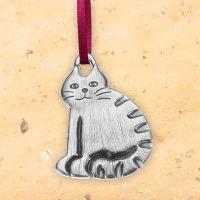 Barn Cat Ornament - Danforth Pewter, VT    (04.10.15)