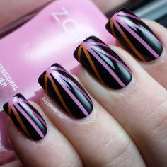 Nail Art - Sunset in pink
