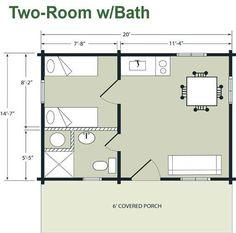 14 x 40 floor plans with loft   Boulder Lodge – 14'-7'' x 20'