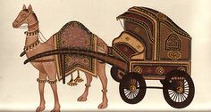 Indian Miniature Painting Handmade Rajasthani Ethnic Paper Art Camel Chariot