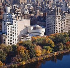 NYC. Guggenheim Museum in the  Upper East Side in Autumn