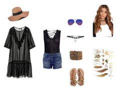"""""""Spring/Music Festival Outfit 1"""" by breannagutierres on Polyvore featuring Sans Souci, Black Orchid, H&M, Laidback London, Reiss and Matthew Williamson"""