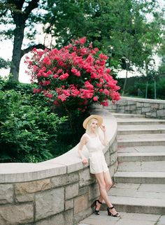 Cute Summer outfits. Blonde Lob. Blue eye makeup ideas, white outfits, jumper outfit ideas. Modern Hepburn. Organic clothing. DIY Jumpsuit. Film Photography. NYC Photographer. Cute Senior Photo Ideas.