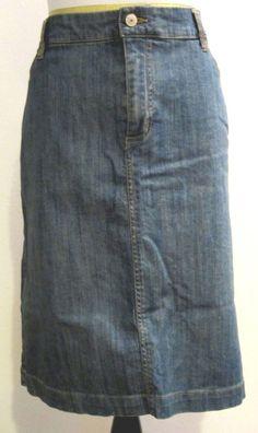 Merona Womens Stretch Denim Jean Skirt Plus Size 18W #Merona #StraightPencil