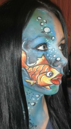 Id like to see someone do this design with a koi fish | with Pin-It-Button on http://www.makeupgeek.com/idea-gallery/look/fish-makeup/
