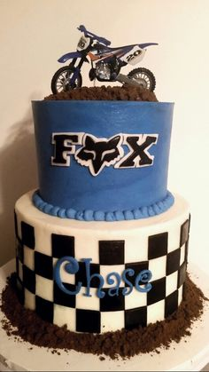 Fox racing dirtbike cake!