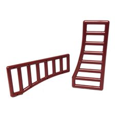 Lego Parts: Bar 1 x 8 x 3 - 1 x 8 x 4 Curved (PACK of 2 - Reddish Brown)