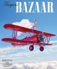 Rihanna Takes Flight: Rihanna by Mariano Vivanco for Harper's Bazaar US March 2017 Cover - Dior Haute Couture dress and sneakers