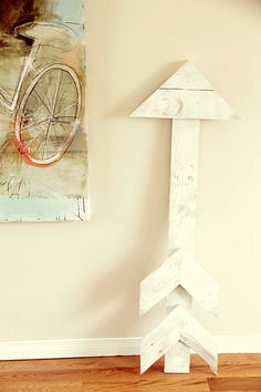 arrow made from pallet.