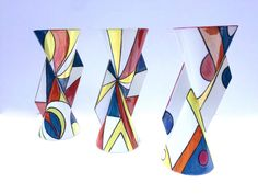 Art Deco Yoyo vase no 2 by EmmaBaileyCeramics on Etsy