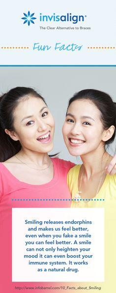 Even a forced smile can boost your mood. Dental Braces, Dental Care, Braces Humor, Invisalign, Dental Jokes, Banners, Restorative Dentistry, Teeth Straightening, Dental