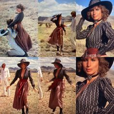 Prairie Skirt, Peter Pan Collars, High Leather Boots, Barbra Streisand, A Star Is Born, Black And White Blouse, Boho Look, Gorgeous Fabrics, Female Singers