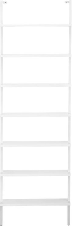 """possibly one for each girl's room:  stairway 96"""" wall mounted bookcase    CB2"""